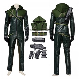 DC Green Arrow First Season Hero Oliver Cosplay Costume