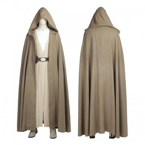Star Wars The Last Jedi Costume Luke Skywalker Cosplay Halloween Outfit Full Set