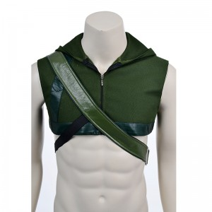 Green Arrow Oliver Halloween Hood And Quiver Cosplay Costume