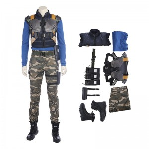 The Avengers Captain America Black Panther Erik Killmonger Cosplay Costume Deluxe Outfit