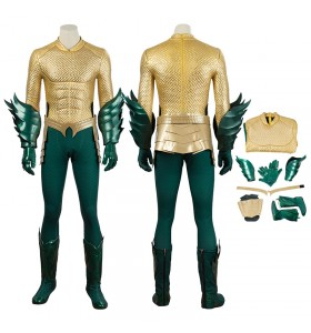 DC Superhero Arthur Curry Costumes Aquaman Cosplay Costume Deluxe Suit