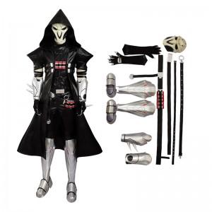Deluxe Version-Overwatch Reaper Gabriel Reyes Cosplay Costume