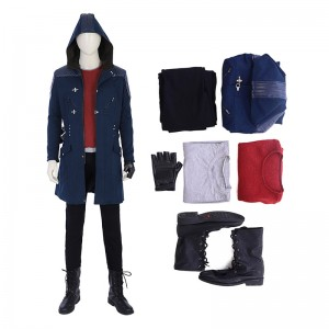 DMC5 Game Devil May Cry 5 Nero Costume Hooded Jacket Cosplay Costumes