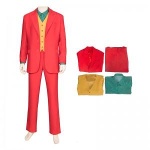 Batman Movie Cosplay Costumes Joker Costume Red Suit Full Set