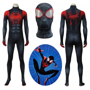 Spider Man Costume Into The Spider-Verse Miles Morales SpiderMan Cosplay