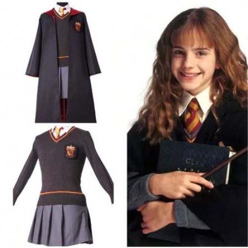 Harry Potter Gryffindor Uniform Hermione Granger Cosplay Costume Pour Enfant Adulte