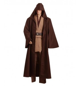 Star Wars Kenobi Jedi Cosplay Costume Version Brune